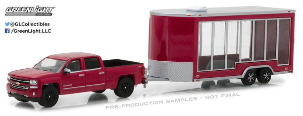 2016 Chevrolet Silverado and Display Trailer 1/64 Diecast Model