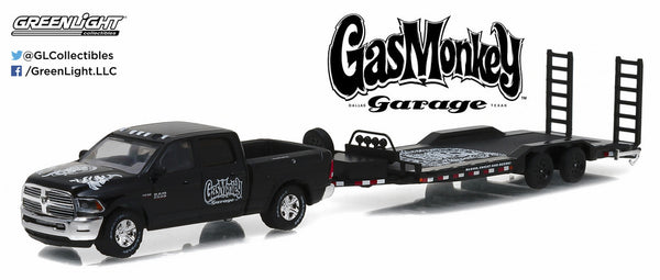 Gas Monkey Garage 2016 Dodge Ram 2500 and Heavy Duty Car Hauler 1/64 Diecast Model