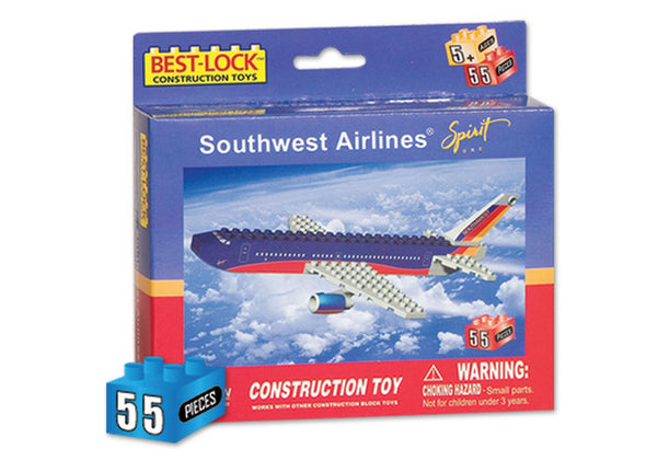 Southwest Airlines Spirit One 55 Piece Construction Toy with Minifigure
