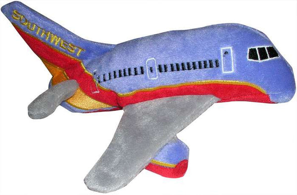 Southwest Airlines Plush Toy Airplane with Sound