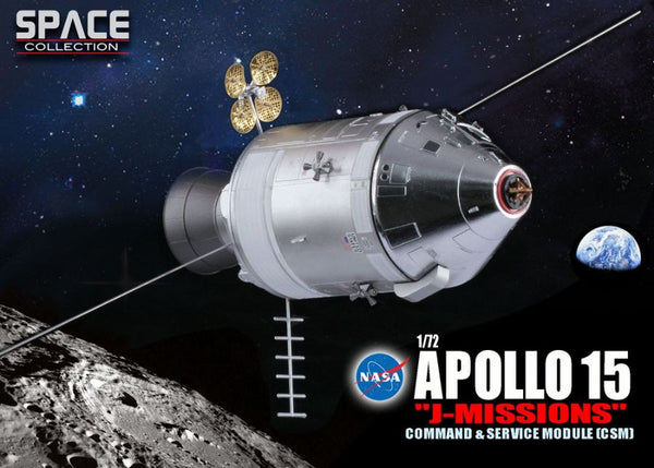 "Dragon Space Apollo 15 ""J Mission"" Command Service Module 1/72 Scale Model"