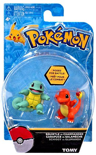 Tomy Pokemon Action Pose 2 Pack Squirtle vs Charmander