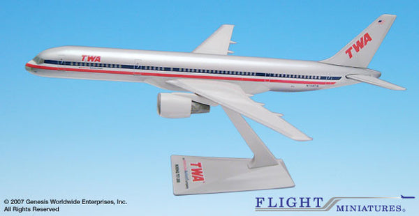 Flight Miniatures TWA American Airlines Boeing 757-200 Transition Livery 1/200 Scale Model with Stand