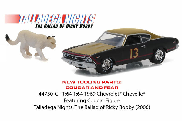 1969 Chevrolet Chevelle from Talladega Nights 1/64 Scale Diecast and Cougar