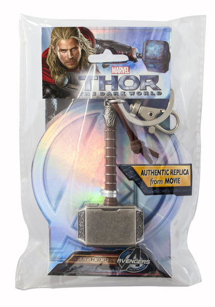Thor 2 Hammer Pewter Keyring 3 Inches Long