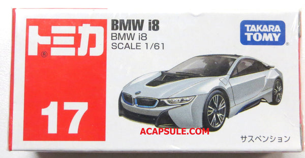 Tomica #17 BMW i8 1/61 Diecast Car by Takara Tomy