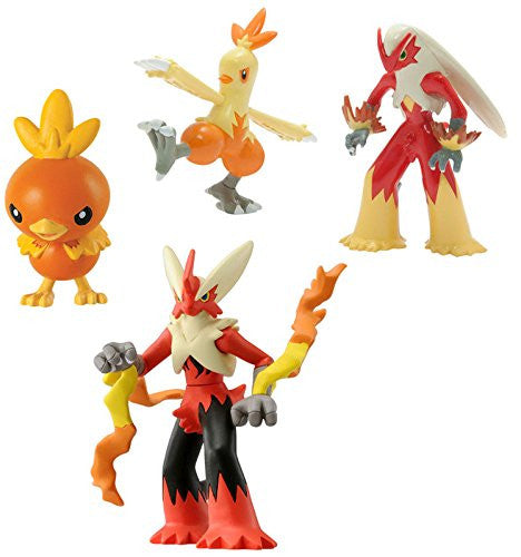 Pokemon Trainer's Choice 4 Pack Torchic, Combusken, Blaziken and Mega Blaziken