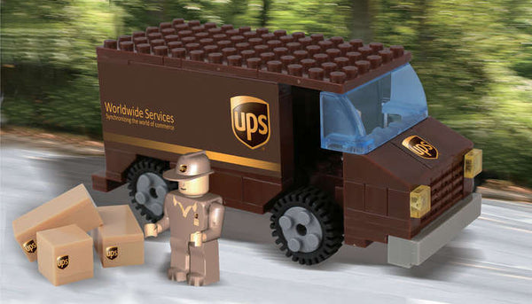 UPS Package Truck 111 Piece Construction Toy with Minifigure