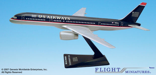 Flight Miniatures US Airways Boeing 757-200 1/200 Scale Model with Stand