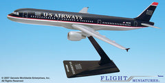 Flight Miniatures US Airways Airbus A321-200 1/200 Scale Model with Stand