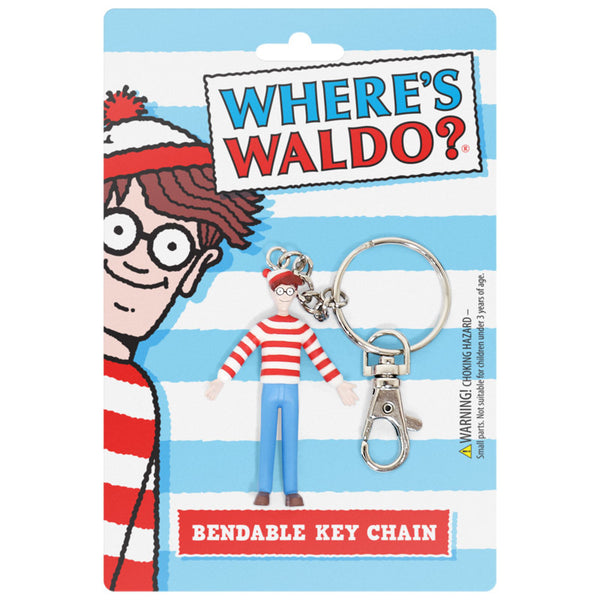Where's Waldo 3 Inch Bendable Keychain