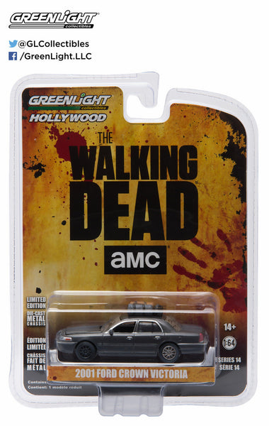 2001 Ford Crown Victoria from The Walking Dead 1/64 Scale Diecast Car