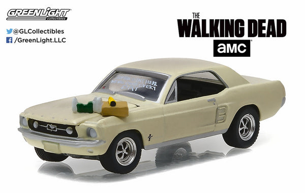 1967 Ford Mustang Coupe from The Walking Dead 1/64 Scale Diecast