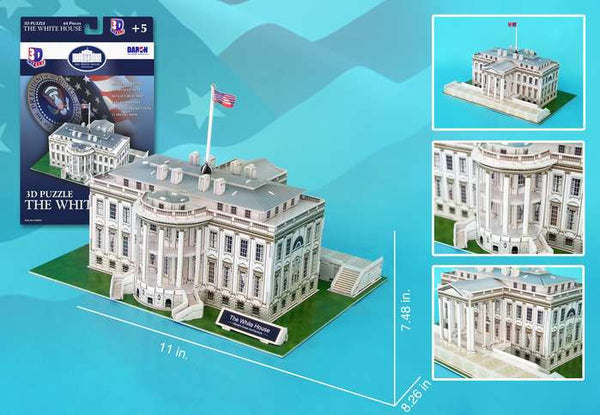 White House 3D Model 64 Pieces