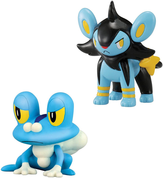 Tomy Pokemon X & Y Froakie vs Luxio 2 pack Small Figures