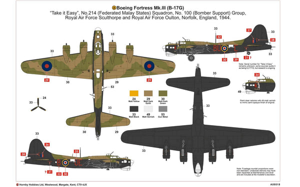 Airfix Boeing B-17G Flying Fortress MK.III 1/72 Scale Model Kit