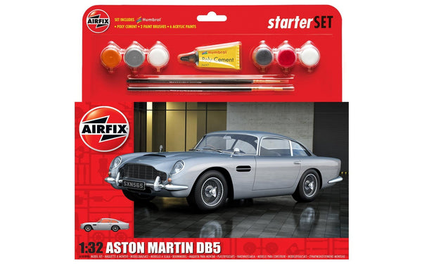 Aston Martin DB5 Starter Set 1:32 Scale (Comes with Paint, Brushes and Glue)