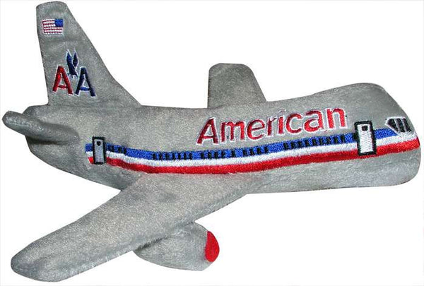 American Airlines Plush Toy Airplane with Sound