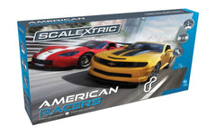 Scalextric American Racers Camaro Vs Corvette 1/32 Slot Car Set