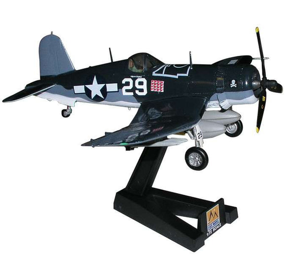 US Navy VF-17 Jolly Roger F4U-1 Corsair 1/72 Model Plane with Stand