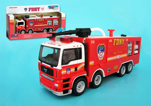 FDNY Rescue 1 Fire Truck Tanker Really Shoots Water