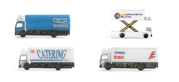 Herpa Airport Accessories 4 (Four) Catering Trucks 1/500 Scale