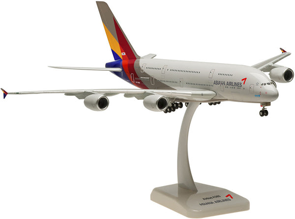 Hogan Wings Asiana Airlines A380 1/200 Model with Gears and Stand