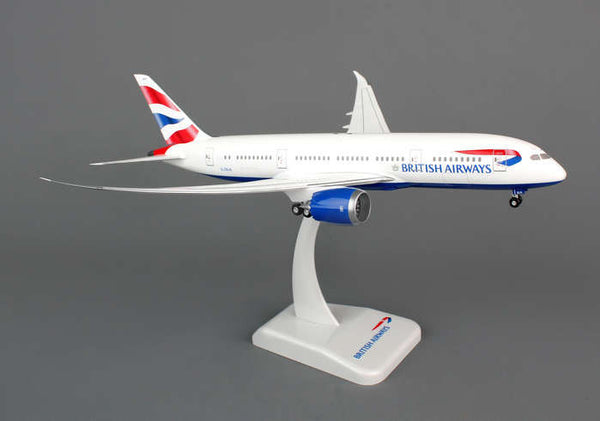 Hogan Wings British Airways Boeing 787-8 1/200 Scale Model w Gears & Stand