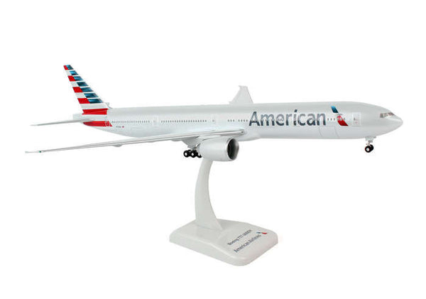 Hogan American Airlines New Livery 777-300 1/200 Scale Model w Gears & Stand
