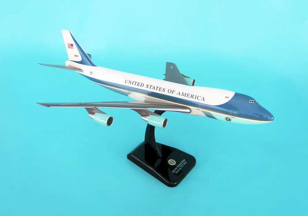 Hogan Air Force One B747-200 1/200 Scale Model w Gears & Stand