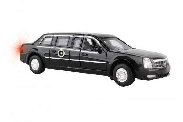 US Presidential Limousine Diecast Pullback with Lights