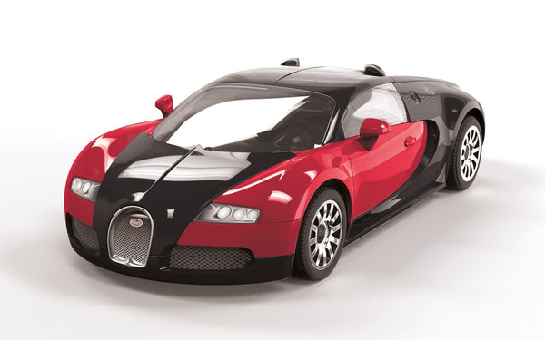 (Black and Red) Bugatti Veyron 16.4 Construction Toy