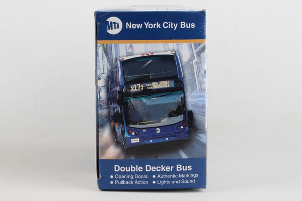 New York City MTA Double Decker Toy Bus with Lights and Sound