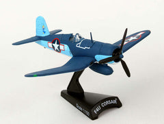 Postage Stamp F4U CORSAIR VMF-422 1ST LT STOUT 1/100 Scale Diecast Model with Stand