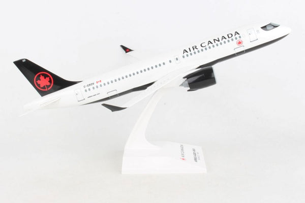 Skymark Air Canada Airbus A220-300 1/100 Scale Plane with Stand C-GROV