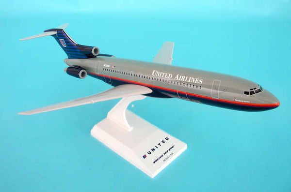 Skymarks Model United Airlines 727-200 Battleship Gray Livery 1/150 Scale with Stand