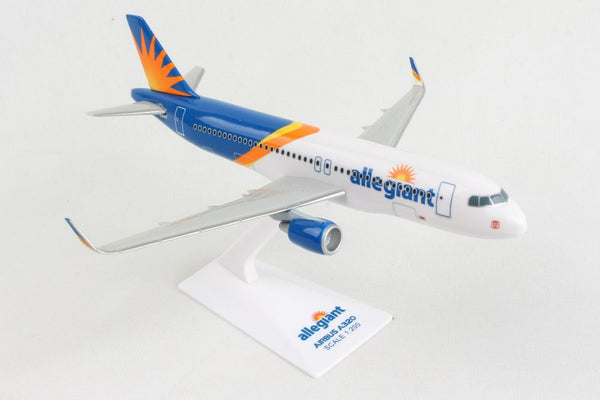 Skymarks Lite Allegiant Air Airbus A320 1/200 Scale Model with Stand