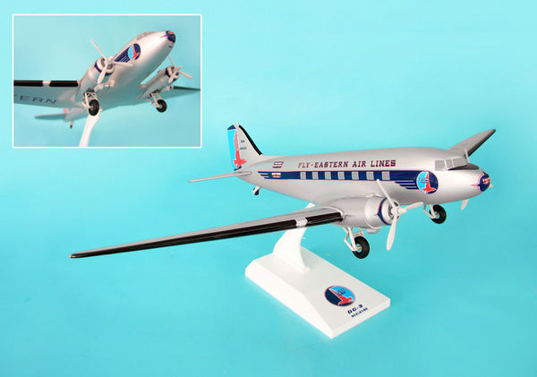 Skymarks Eastern Airlines DC-3 1/80 Scale with Stand and Gears