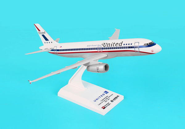 Skymarks United Airlines A320 Friendship Livery1/150 Scale Plane with Stand