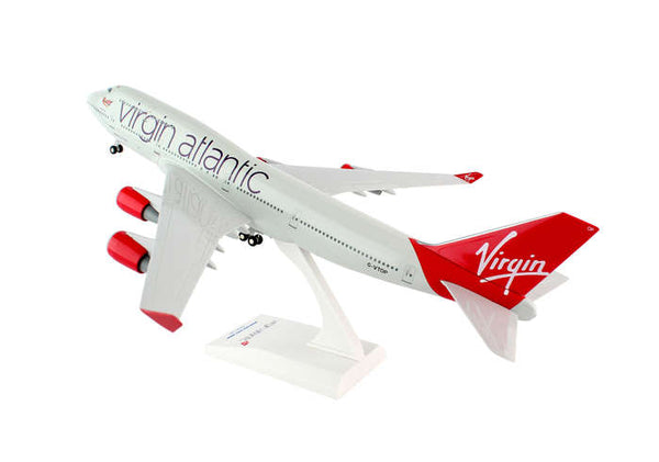 Skymarks SKR672 Virgin Atlantic Boeing 747-400 1/200 Scale Model with Stand and Gears G-VTOP