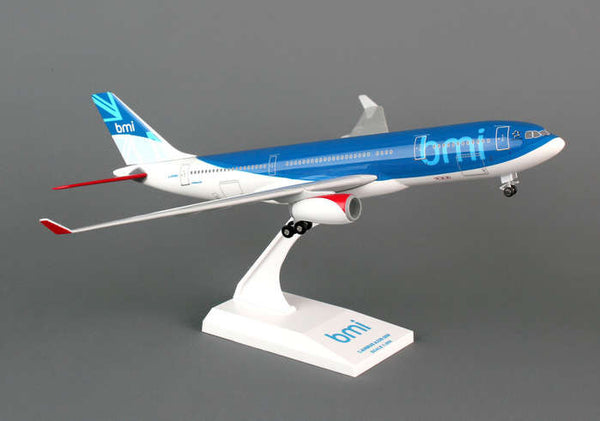 Skymarks BMI Airbus A330-200 1/200 Scale Model with Stand and Gears