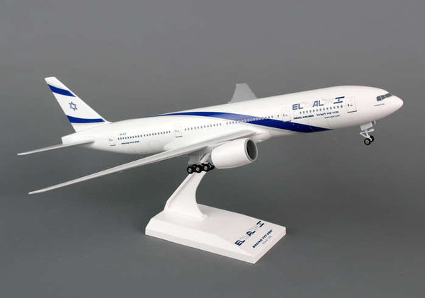 Skymarks El Al  777-200 1/200 Scale Plane with Stand and Gears