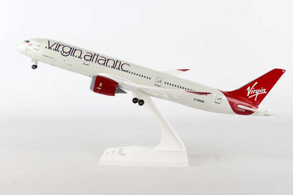 Skymarks Model SKR887 Virgin Atlantic Boeing 787-9 1/200 Scale with Stand & Gears Reg # G-VNEW