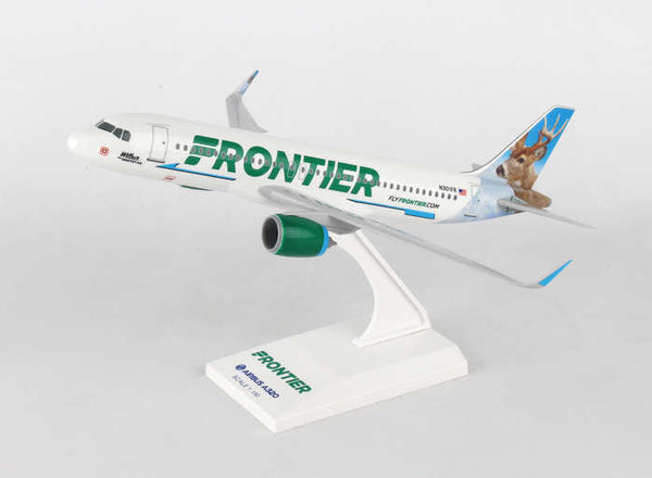Skymarks SKR907 Frontier Airlines A320 Neo Wilbur the Whitetail N301FR 1/150 Scale Plane with Stand