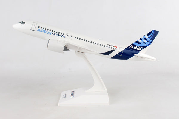 Skymark SKR957 Airbus Corporate A220-100 1/100 Scale Plane with Stand C-FFDO