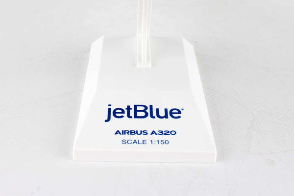 Skymarks Jetblue Vets in Blue Airbus A320 N775JB 1/150 Scale Model with Stand