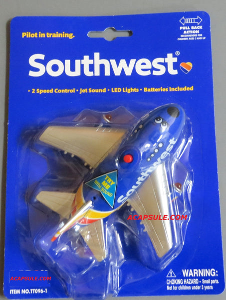 Southwest Airlines Heart Livery Pullback Plane with Lights & Sound