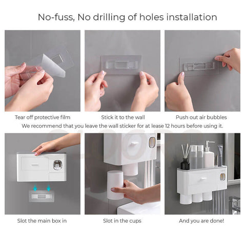 wall mounted toothbrush holder, easy install