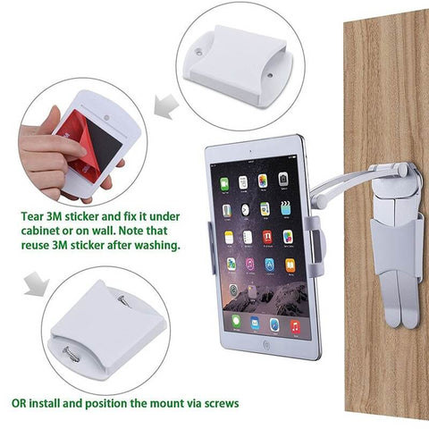 ipad stand,cell phone stand,ipad wall mount,tablet holder,tablet wall mount,cell phone stand for desk,iphone stand for desk,ipad kitchen stand,wall
