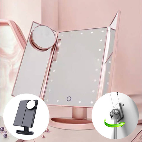 light up vanity,light up vanity mirror,vanity with lights,makeup mirror with led lights,flexible